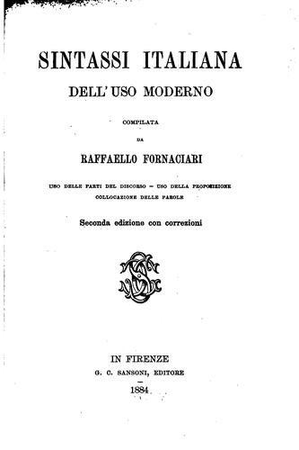 Download Sintassi italiana dell'uso moderno