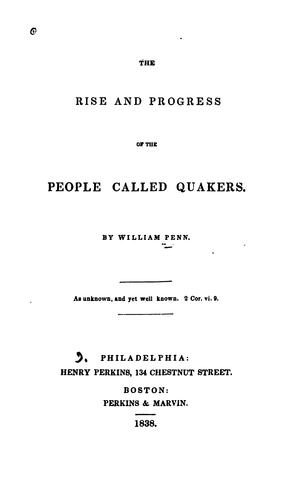 Download The rise and progress of the people called Quakers