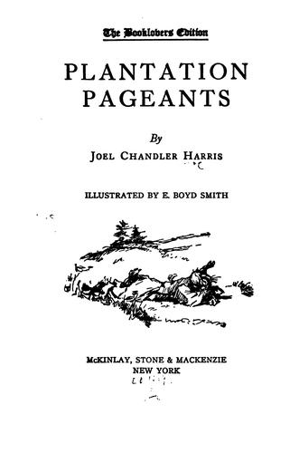 Plantation pageants.