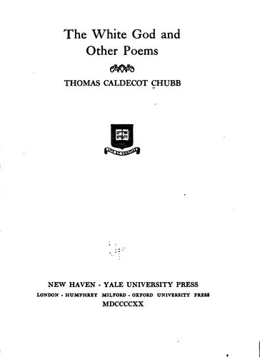 The white god and other poems.