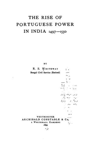 Download The rise of Portuguese power in India, 1497-1550