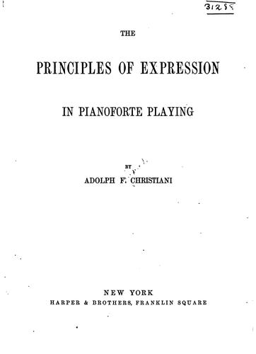 Download The principles of expression in pianoforte playing.