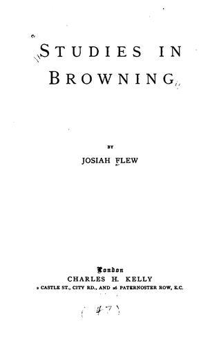 Studies in Browning.