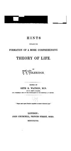Download Hints towards the formation of a more comprehensive theory of life.