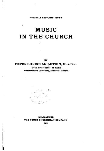 Download Music in the church.