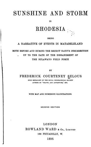Download Sunshine and storm in Rhodesia.