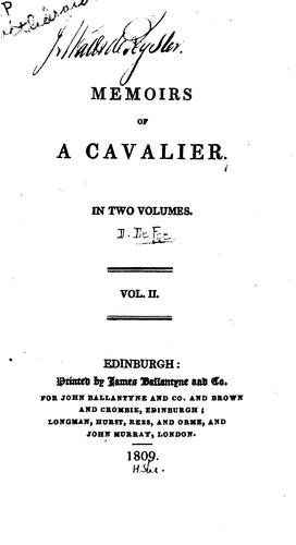 Download Memoirs of a cavalier …