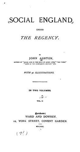 Download Social England under the Regency.