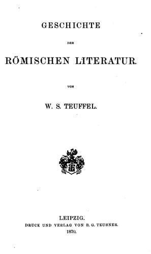 Geschichte der römischen Literatur.