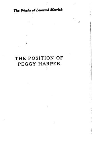 The position of Peggy Harper.