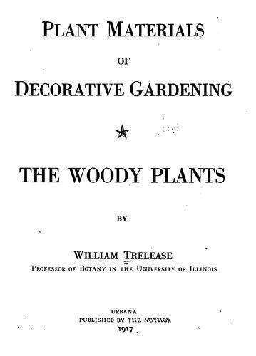 Plant materials of decorative gardening