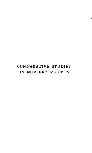 Download Comparative studies in nursery rhymes.