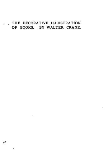 Of the decorative illustration of books old and new by Crane, Walter