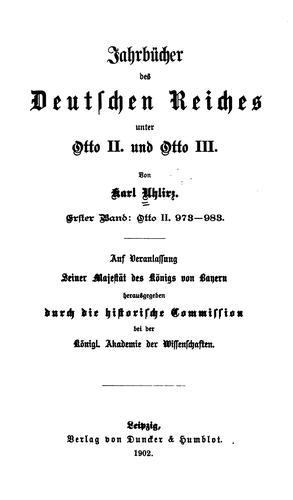 Jahrbücher des Deutschen Reiches unter Otto II. und Otto III.