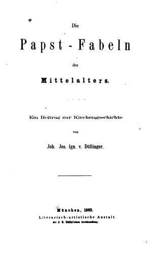 Download Die Papst-Fabeln des Mittelalters.