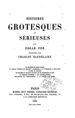 Download Histoires grotesques et sérieuses