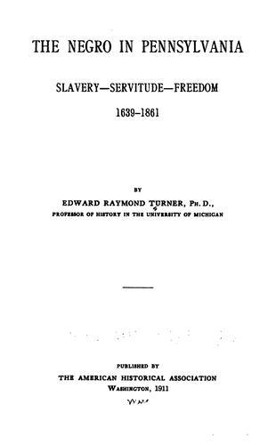 Download The Negro in Pennsylvania