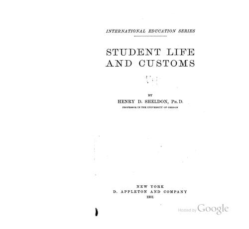 Download Student life and customs.