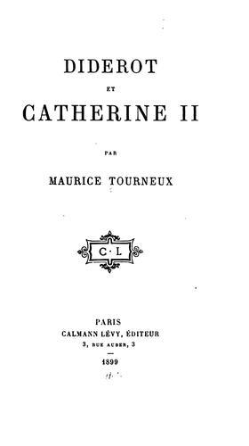 Download Diderot et Catherine II.