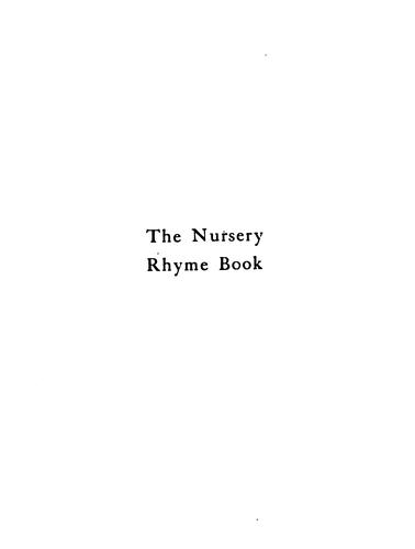 Download The nursery rhyme book.