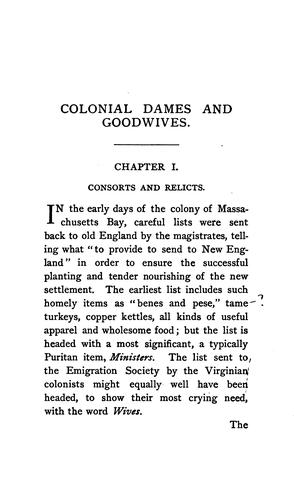 Colonial dames and good wives.