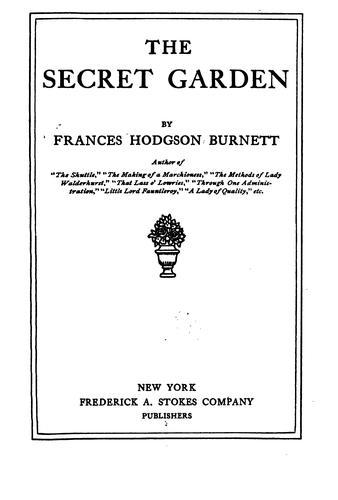 Download The secret garden.