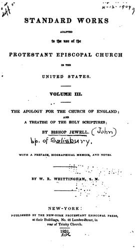 Download An apology of the Church of England.