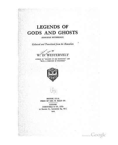 Download Hawaiian legends of ghosts and ghost-gods