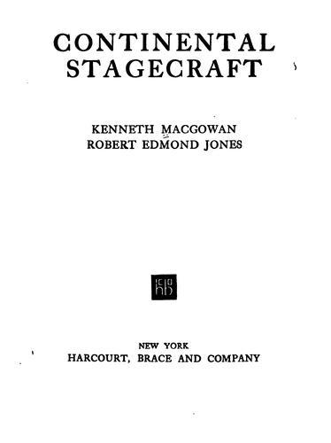 Download Continental stagecraft
