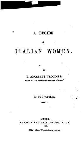 Download A decade of Italian women.