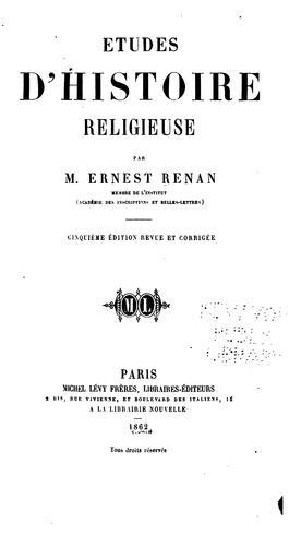 Études d'histoire religieuse.