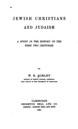 Download Jewish Christians and Judaism