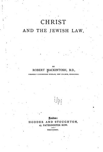 Download Christ and the Jewish law.