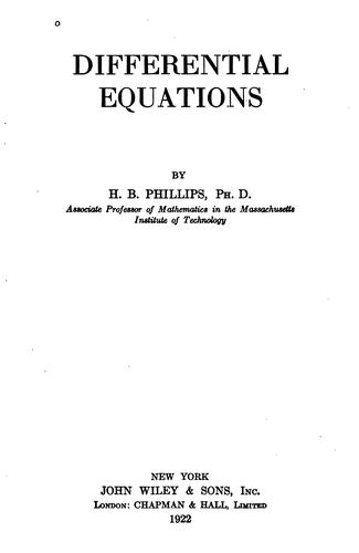 Download Differential equations.