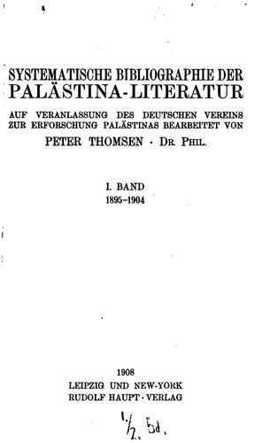 Die Palästina-Literatur