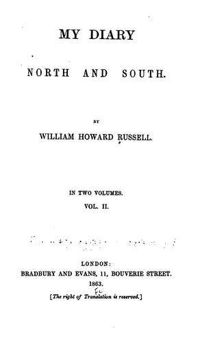 My diary, North and South.