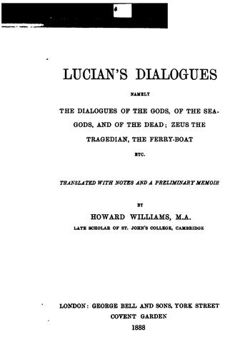 Dialogi by Lucian of Samosata
