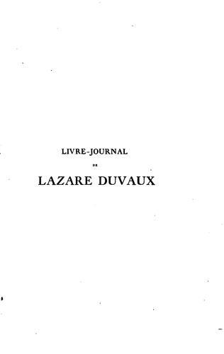 Livre-journal de Lazare Duvaux, marchand-bijoutier ordinaire du roy 1748-1758.