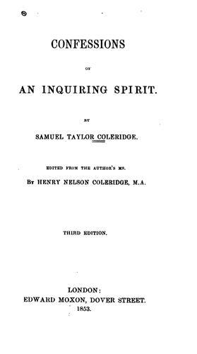 Confessions of an inquiring spirit.