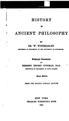 History of ancient philosophy.