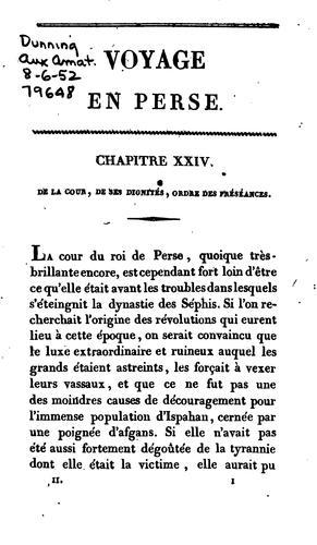 Voyage en Perse, fait en 1812 et 1813.