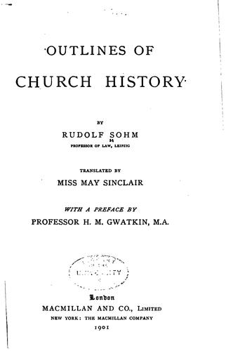 Outlines of church history.