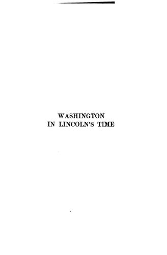 Download Washington in Lincoln's time.