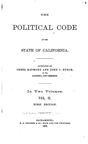 Download The Political code of the state of California