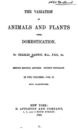 Download The  variation of animals and plants under domestication