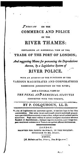 Download A treatise on the commerce and police of the River Thames