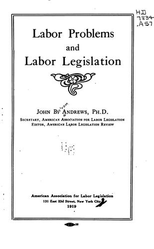 Download Labor problems and labor legislation