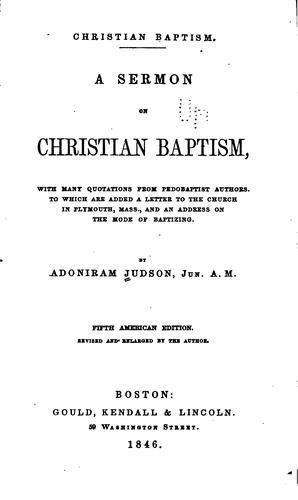 Christian baptism.