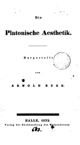 Download Die platonische Aesthetik.