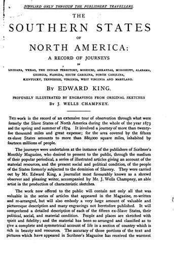 The Southern states of North America by King, Edward